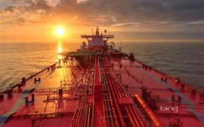 Oil tanker near Galveston, Texas